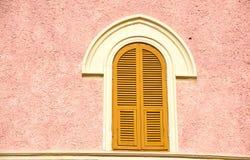 różowy ściana okien Obraz Stock