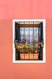 różowy ściana okien Zdjęcie Stock