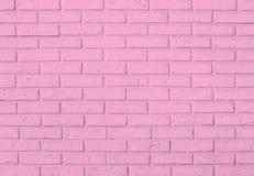Różowy ściana z cegieł wzoru tło Obrazy Royalty Free