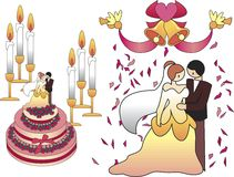 różowy ślub Zdjęcie Stock