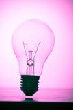 - różowy światła żarówki Obrazy Stock