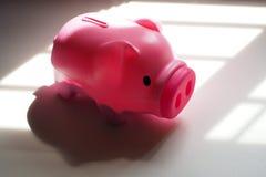 Różowy Świniowaty prosiątko bank zdjęcia royalty free