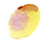 Różowy żółty akwareli tło Zdjęcie Royalty Free