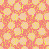 Różowy abstracciones wzór z okręgami Obrazy Royalty Free