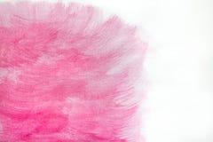 Różowy Abstrakcjonistycznej sztuki tło Obraz olejny na kanwie Zielona i żółta tekstura Punkty nafciana farba Brushstrokes farba n Zdjęcie Stock