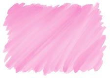 Różowy akwareli tło z postrzępionymi krawędziami Obrazy Stock