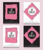 Różowy błyskotliwości ulotki szablon Zdjęcie Royalty Free