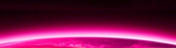 różowy banner świat Zdjęcia Royalty Free