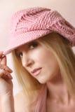 różowy beret zdjęcia royalty free