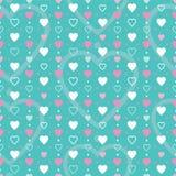 Różowy biały i błękitny serca tło Zdjęcia Stock