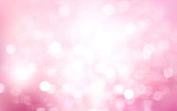 Różowy biały zamazany bokeh tło Zdjęcia Stock