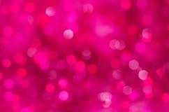 Różowy bokeh tekstury bożych narodzeń tło Obraz Stock