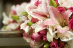 różowy bukiet ślub obraz stock