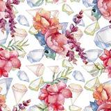 Różowy bukieta wildflower Bezszwowy tło wzór Tkanina druku tapetowa tekstura Obrazy Stock