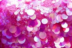 Różowy cekinów wzoru tekstury tło Fotografia Stock