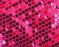 Różowy cekinu tło Zdjęcie Stock