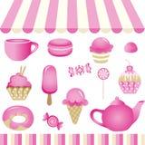 Różowy cukierku sklep ilustracja wektor