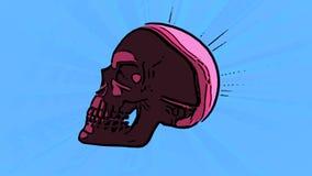 Różowy czaszki przędzalnictwo royalty ilustracja