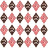 Różowy diamentowy filiżanka wzór Zdjęcia Stock