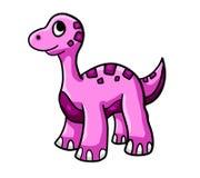 Różowy dinosaur 1 royalty ilustracja