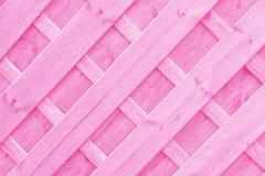 Różowy Drewniany kratownicy lub trellis tło Obrazy Stock