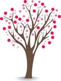 różowy drzewo ilustracji