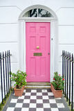 Różowy drzwi zdjęcie stock