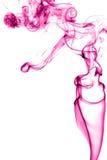 Różowy dym na białym tle Fotografia Royalty Free