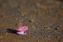 Różowy dziecko pacyfikator zdjęcie royalty free