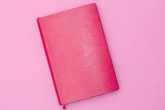 Różowy dzienniczek na różowym tle Zdjęcie Royalty Free