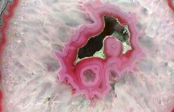 Różowy geoda plasterek obrazy royalty free
