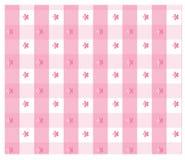 Różowy gingham Fotografia Royalty Free