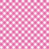 Różowy gingham tkaniny płótno, bezszwowy wzór zawierać Obraz Royalty Free