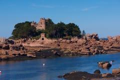 Różowy granitu wybrzeże Zdjęcie Stock