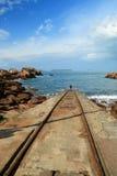 Różowy granitu wybrzeże Fotografia Stock