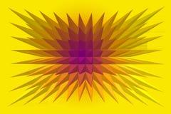 różowy ilustraci kolor żółty ilustracja wektor