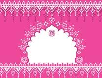 Różowy Indiański tło Fotografia Stock