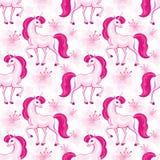 Różowy jednorożec wzór Zdjęcie Royalty Free