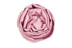 Różowy jedwabniczy szalik kojarzący wzrastał Zdjęcie Royalty Free