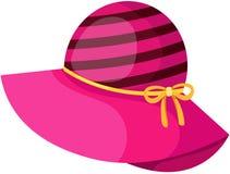 Różowy kapelusz royalty ilustracja
