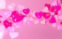 Różowy kierowy kształt ilustracja wektor
