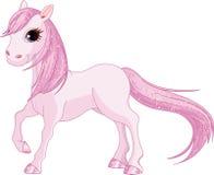 Różowy koń royalty ilustracja