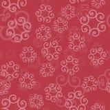 Różowy koloru ornament mandalas na lekkim czerwonym tle Szablon dla orientalnego opakunkowego papieru, chusty, tkaniny ilustracja wektor