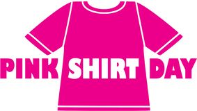 Różowy koszulowy dzień logo