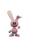 różowy królik ilustracja wektor