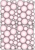 różowy kręgów tło ilustracja wektor