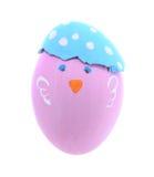 Różowy kurczaka Easter jajko odizolowywający na białym tle Zdjęcie Stock