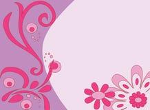 różowy kwiaciaste tło royalty ilustracja