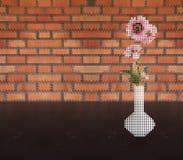 różowy kwiat wazę Zdjęcie Royalty Free