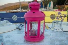 Różowy lampion obrazy royalty free